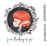 cute girl vector graphic   Shutterstock .eps vector #659939992