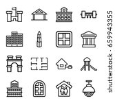 architecture icons set. set of... | Shutterstock .eps vector #659943355