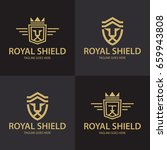 royal shield logo design... | Shutterstock .eps vector #659943808