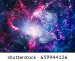 galaxy   elements of this image ... | Shutterstock . vector #659944126