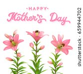 mothers day greeting card with... | Shutterstock . vector #659944702