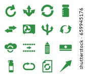 refresh icons set. set of 16... | Shutterstock .eps vector #659945176