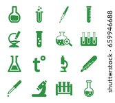 laboratory icons set. set of 16 ... | Shutterstock .eps vector #659946688