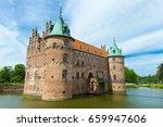 egeskov slot on funen island in ... | Shutterstock . vector #659947606