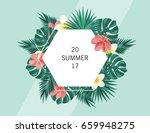 trendy summer banner  poster...   Shutterstock .eps vector #659948275