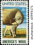 usa   circa 1965  a stamp...   Shutterstock . vector #65995171