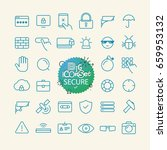 outline icon set. web and... | Shutterstock .eps vector #659953132