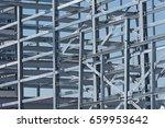 steel construction of an... | Shutterstock . vector #659953642
