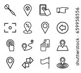 point icons set. set of 16... | Shutterstock .eps vector #659958556