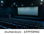 empty blue cinema hall with... | Shutterstock . vector #659958982