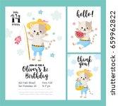 baby shower or baby birthday... | Shutterstock .eps vector #659962822