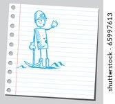 sketch style vector...   Shutterstock .eps vector #65997613