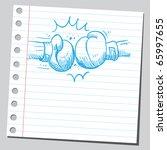 sketch style vector...   Shutterstock .eps vector #65997655