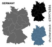 detailed map of germany in blue ... | Shutterstock .eps vector #659976886
