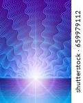 alien world with distant... | Shutterstock .eps vector #659979112