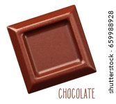 one square piece of chocolate... | Shutterstock .eps vector #659988928