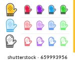 outline cooking glove icon in... | Shutterstock .eps vector #659993956