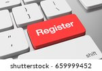 register online. 3d illustration | Shutterstock . vector #659999452