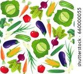 vegetables seamless pattern.... | Shutterstock .eps vector #660000055