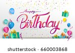happy birthday typography... | Shutterstock .eps vector #660003868