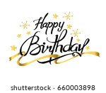 happy birthday typographic with ... | Shutterstock .eps vector #660003898