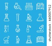 lab icons set. set of 16 lab... | Shutterstock .eps vector #660007912