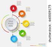 bright infographics of 5... | Shutterstock .eps vector #660009175