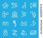 holding icons set. set of 16... | Shutterstock .eps vector #660009472