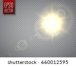 sun isolated on transparent... | Shutterstock .eps vector #660012595
