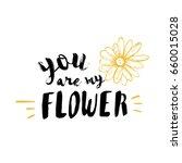 lettering modern calligraphy.... | Shutterstock .eps vector #660015028