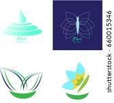 set of spa logos on a white... | Shutterstock .eps vector #660015346