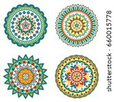 collection of bright colorful... | Shutterstock .eps vector #660015778