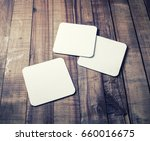 photo of three blank beer... | Shutterstock . vector #660016675