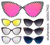 sunglasses set. trendy... | Shutterstock .eps vector #660017902
