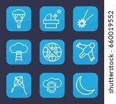 Sky Icon. Set Of 9 Outline Sky...