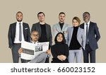diverse business people set... | Shutterstock . vector #660023152