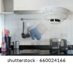 smoke detector on the ceiling... | Shutterstock . vector #660024166