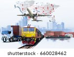 global business connection... | Shutterstock . vector #660028462