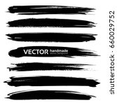 long black thick textured... | Shutterstock .eps vector #660029752