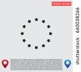 stars in circle. vector art. | Shutterstock .eps vector #660038266