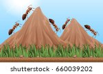 many ants climbing up the... | Shutterstock .eps vector #660039202