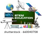 stem education on board and...   Shutterstock .eps vector #660040708
