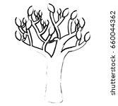 autumn tree plant isolated icon