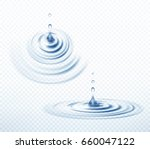 realistic transparent drop and... | Shutterstock .eps vector #660047122