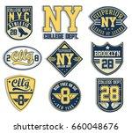 labels vintage nyc denim... | Shutterstock .eps vector #660048676