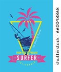 surf illustration   t shirt... | Shutterstock .eps vector #660048868