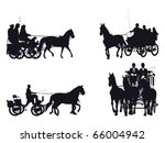 horse and carriage silhouette... | Shutterstock .eps vector #66004942