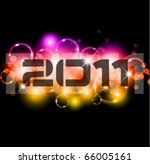 colorful new year celebration... | Shutterstock .eps vector #66005161