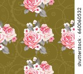 seamless floral pattern with... | Shutterstock .eps vector #660060532