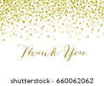 gold confetti background  ... | Shutterstock .eps vector #660062062